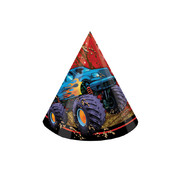 Mudslinger Monster Truck Party Hats Pk 8