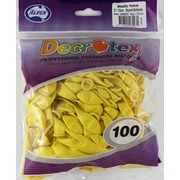 Metallic Yellow 5in (12cm) Latex Balloons Pk 100
