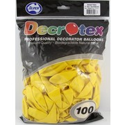 Standard Yellow Latex Balloons (12in - 30cm) Pk 100