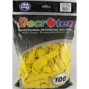 Crystal (See-Through) Yellow Latex Balloons (12in - 30cm) Pk 100