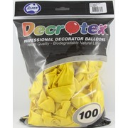 Metallic Yellow Latex Balloons (12in - 30cm) Pk 100