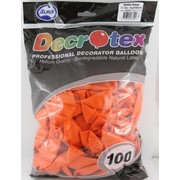 Metallic Orange Latex Balloons (12in - 30cm) Pk 100