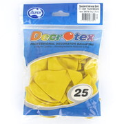 Standard Yellow 30cm Latex Balloons (National Gold) Pk 25