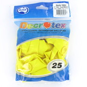 Metallic Yellow 30cm Latex Balloons Pk 25