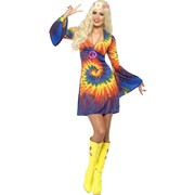 Adult 1960's Tie Die Costume - Size 16-18 (Dress Only)
