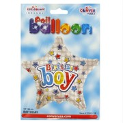 Balloon Foil 18in Star Birthday Boy Pk1