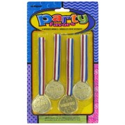 Party Favours - Winner's Medals Pk 4