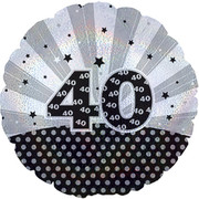 Age 40 18in Foil Balloon Pk 1