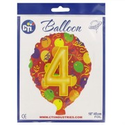 Balloon Foil 18in Balloon Shape 4 Pk1