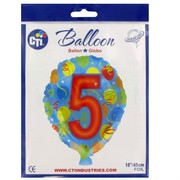 Balloon Foil 18in Balloon Shape 5 Pk1
