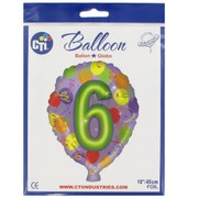 Balloon Foil 18in Balloon Shape 6 Pk1