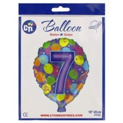 Balloon Foil 18in Balloon Shape 7 Pk1