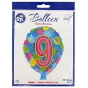 Balloon Foil 18in Balloon Shape 9 Pk1
