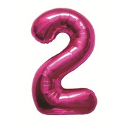 Magenta Number 2 Foil Supershape Balloon (34in-87cm) Pk 1