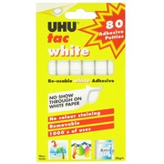 UHU White Tac Adhesive Putties 50gm Pk80