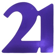 Cutout Large Foil 21 Purple Pk1