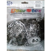Metallic Black 21 Latex Balloons Pk 50