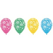Good Luck Assorted 30cm Latex Balloons Pk10