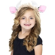 Child Cow Ears and Horns on Headband Pk 1