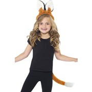 Fox Child Costume Set - Ears on Headband & Tail Pk 1