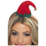 Christmas Mini Elf Hat on Headband Pk 1