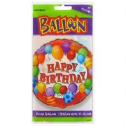 Balloon Foil 18in Balloons Multi Happy Birthday Pk1