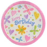 Butterfly Party Plates - Small 17cm Pk 8
