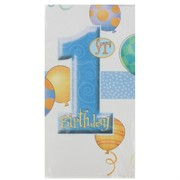 1st Birthday Party Tablecover - Blue Balloons Pk1