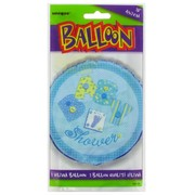 Baby Shower 18 inch Foil Balloon - Blue Stitching Pk1