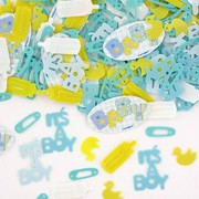 Baby Shower Confetti - Blue Stitching Pk 1