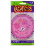 Baby Shower 18 inch Foil Balloon - Pink Stitching Pk1
