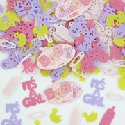 Baby Shower Confetti - Pink Stitching Pk 1