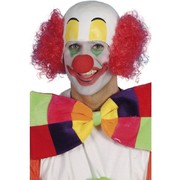 Rubber Clown Head Hat With Red Hair Pk 1