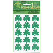 St Patricks Day Shamrock Tattoo Sheets Pk 2 (2 Sheets of 12)