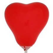 Balloons Latex Premier Heart Shape 12cm Red Pk10