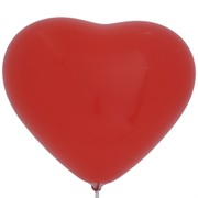 Balloons Latex Premier Heart Shape 36cm Red Pk10