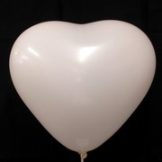 Balloons Latex Premier Heart Shape 36cm White Pk10