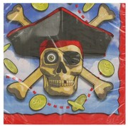 Pirate Party Napkins - Pirate Bounty Lunch Pk16