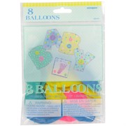 Baby Shower Balloons - 12in Latex Pastel Baby Stitch Pk8 (Assorted Colours)
