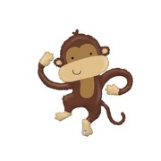 Balloon Foil Supershape Linky Monkey Pk1