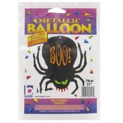 Balloon Supershape Foil Boo Spider Pk1