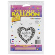 Balloon Foil Supershape 34inch Wedding Love Birds Pk1