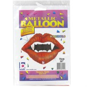 Balloon Foil Supershape Vampire Teeth Pk1