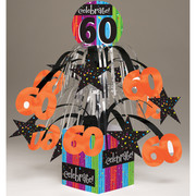 Milestone Celebrations 60 Mini Centrepiece Decoration Pk 1