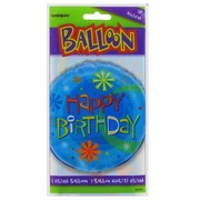 Balloon Foil 18in Stellar Happy Birthday Pk1