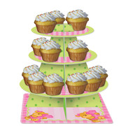 Bears 1st Birthday Girl Cupcake Stand Pk 1