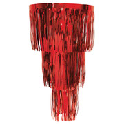 Red 3 Tier Hanging Foil Chandelier Pk 1