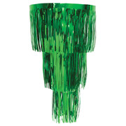 Green 3 Tier Hanging Foil Chandelier Pk 1