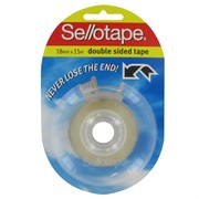 Tape Double Sided Sellotape 18mmx15m Pk1