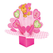 Bears 1st Birthday Girl Centrepiece Pk 1